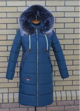 Модная женская зимняя куртка пуховик