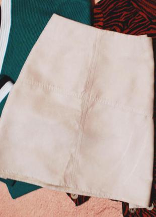 Базовая юбка – трапеция под замш