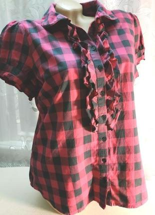 Блуза рубашка в клетку papaya