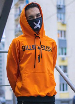 Худи унисекс Billie Eilish Spider Оранжевый