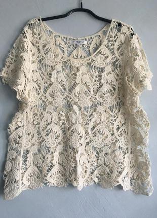 Кружевная пляжная блуза