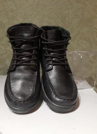 Оригинальные кожаные ботинки женские демисезонные