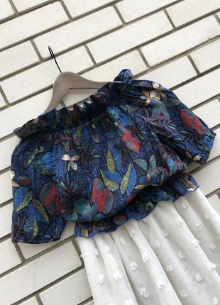 Блузка,рубаха реглан,открытые плечи,этно бохо стиль,цветочный ...