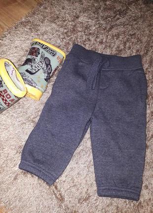 Новенькие теплые штанишки на малыша 6-9 месяцев