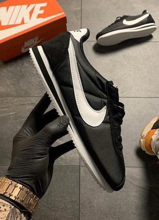 Nike cortez black white! топ модель на лето! наложка!!!