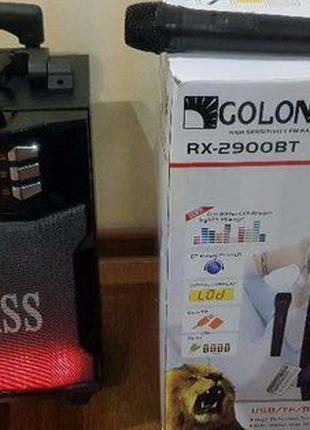 Колонка Комбик GOLON 2900BT BLUETOOTH MP3 FM Радиомикрофон пул...