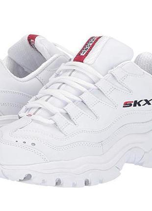 Кожаные кроссовки skechers р.39, оригинал белые,  кожа