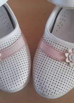Белые туфли-босоножки, размер 30