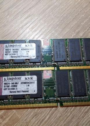 Оперативная память, (ОЗУ) DDR 400, Kingston kvr400x64c3a/512