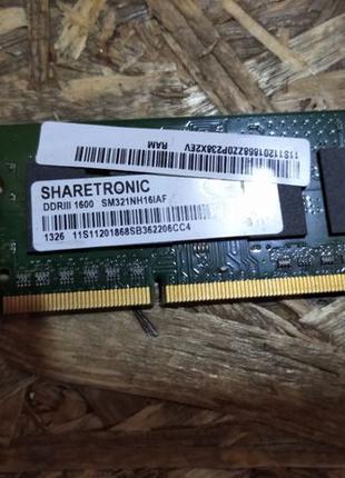 Оперативная память ОЗУ So-dimm ShareTronik SM321NH16IAF 2GB DD...