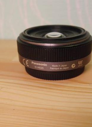 Объектив Panasonic Lumix G 20mm f/1.7 H-H020 micro 4/3 светоси...