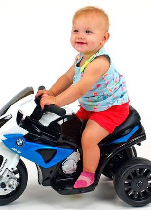 Акция -10% Детский мотоцикл BMW JT 5188 L-4: 6V, кожаное сиденье