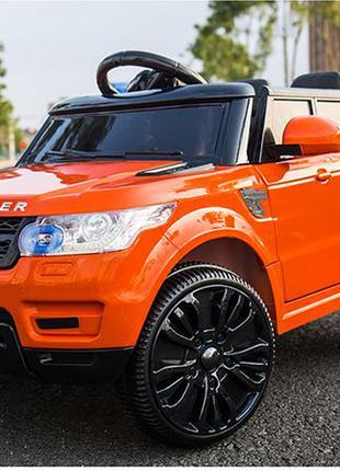 Eva! Детский электромобиль Range Rover FL1638 оранжевый: мягки...