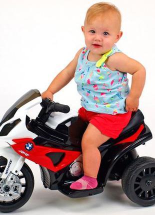 Спешите -10% Детский мотоцикл BMW JT 5188 L-3: 6V, кожаное сид...