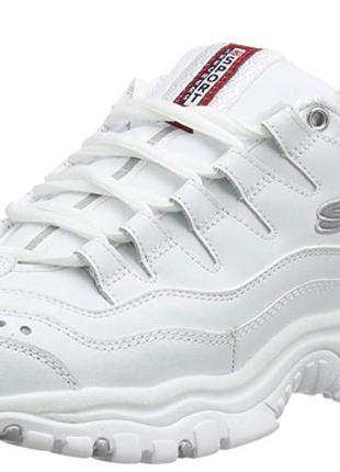 Кожаные кроссовки skechers р.38-39, оригинал белые,кожа