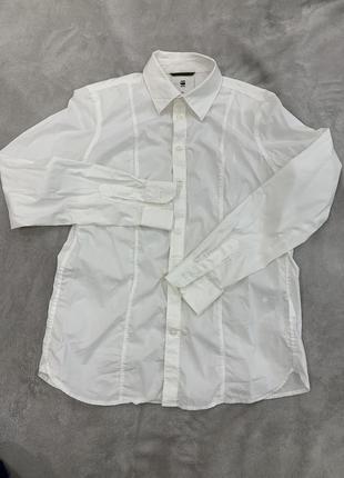 Рубашка приталенная дорогого бренда g star raw