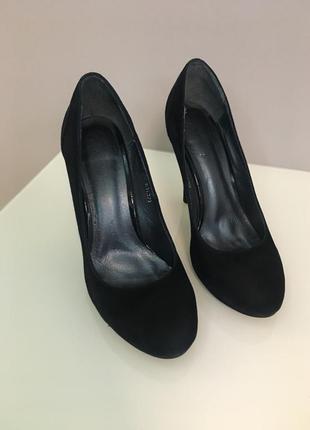 Замшевые туфли, внутри кожа, все натуральное