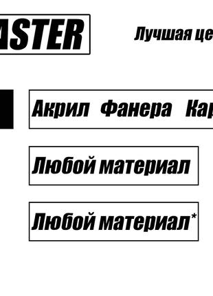 Лазерная резка / Гравировка / УФ печать - Днепр