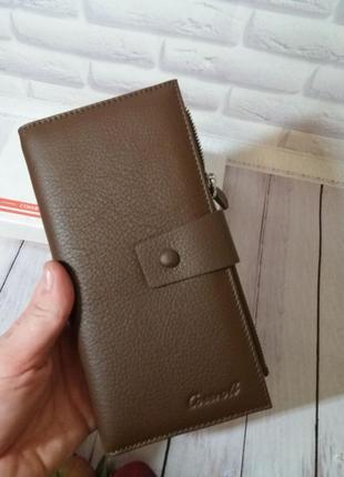 Кожаный кошелек cossroll шкіряний гаманець