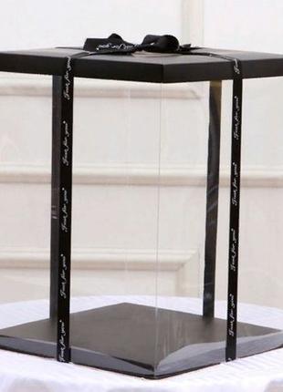 ОПТ Упаковка, Коробки для мишки из роз 40 см (Размер 32х32х41)