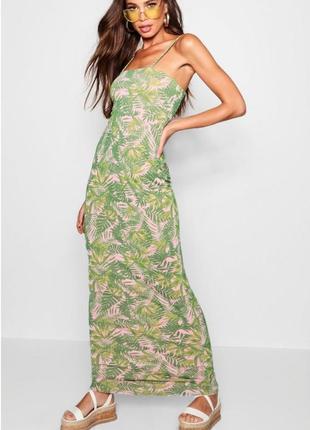 Платье сарафан макси boohoo