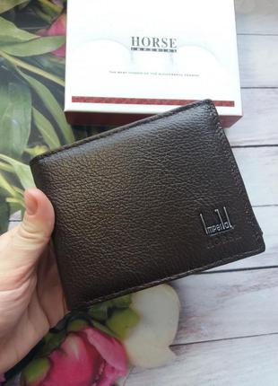 Кожаный кошелек мужской чоловічий гаманець