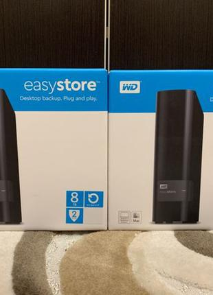 Внешний жесткий диск WD EasyStore 8TB! HDD, WDBCKA0080HBK-NESN...
