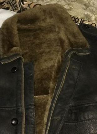Продаю зимнюю кожаную куртку