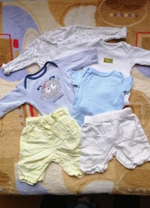 Комплект набор пакет детской одежды боди человечек шорты