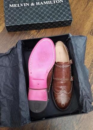 Новые эффектные монки с заклёпками melvin & hamilton туфли пол...