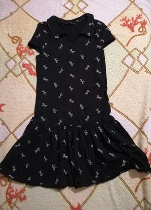 Платье туника / принт зебра