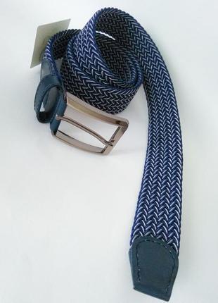 Ремень пояс резинка необычный, синий, женский, мужской