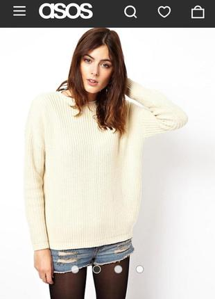 Джемпер свитер asos jumper with lace up back detail