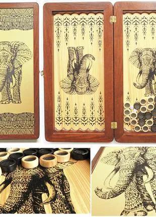 """Нарды  деревянные """"Легенда"""" Слон, 51 см"""