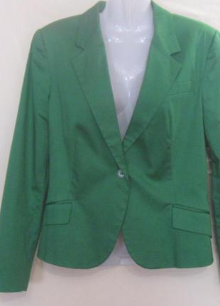 Жакет – пиджак  зелёный женский. 42 р-р