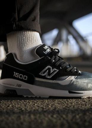New balance 1500 black blue, мужские кроссовки