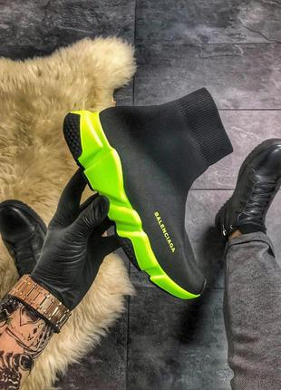Стильные кроссовки 😍  balenciaga speed trainer  green black 😍 ...