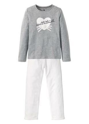 Теплая пижама домашний костюм 146/152