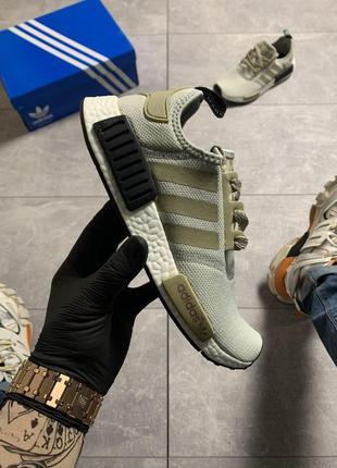 Стильные кроссовки 😍adidas nmd runner grey green 😍