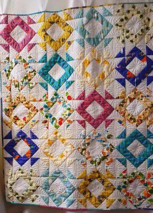Одеяло детское (пэчворк) Веселая карусель