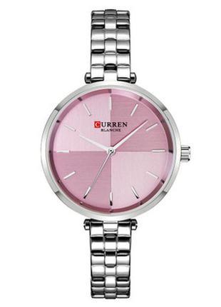 Женские Наручные Часы Curren (9043) Кварцевые Серебристые