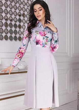 Шикарное весеннее платье рубашка