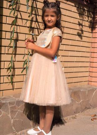 Нарядное золотое платье для девочки
