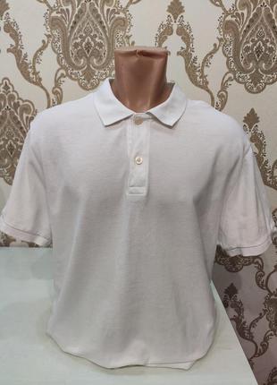 Gap мужское белое поло, футболка поло