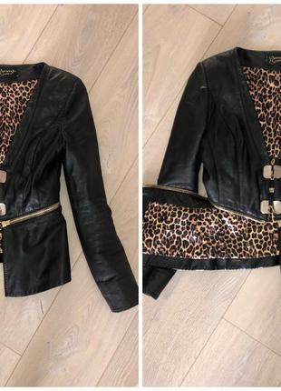 Кожаная куртка пиджак болеро