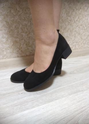 Великолепные туфли - натуральный велюр!