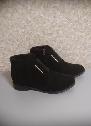 Женские ботинки 39 размер осень весна- натуральная замша!