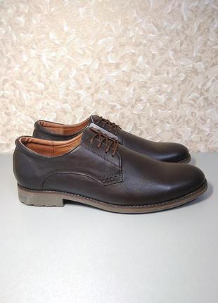 Мужские туфли - натуральная кожа! 42 размер