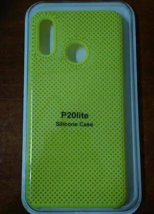 Силиконовый Чехол для Huawei P20 lite Желтый и Черный