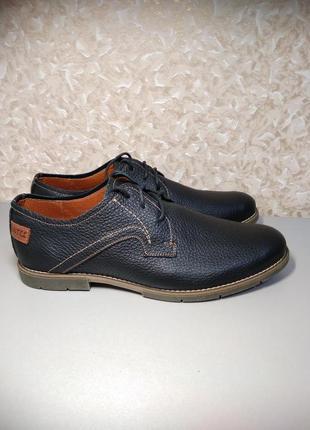 Мужские туфли -44 размер натуральная кожа!